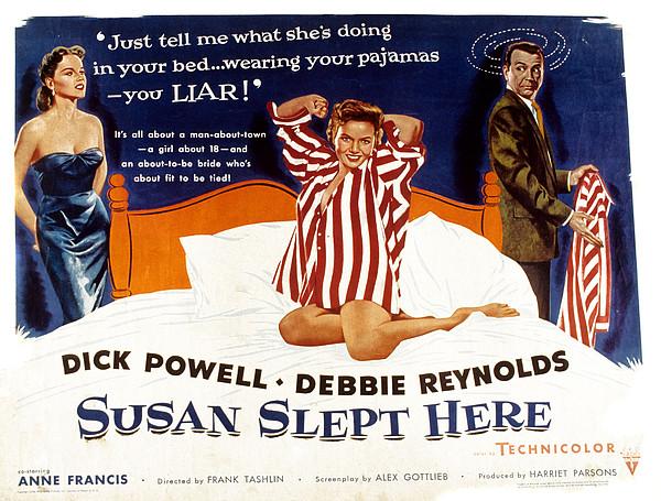 Susan Slept Here, Anne Francis, Debbie Print by Everett