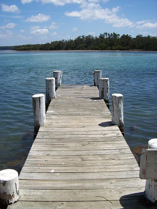 Sussex Inlet Nsw Jetty Print by Donna Huntriss