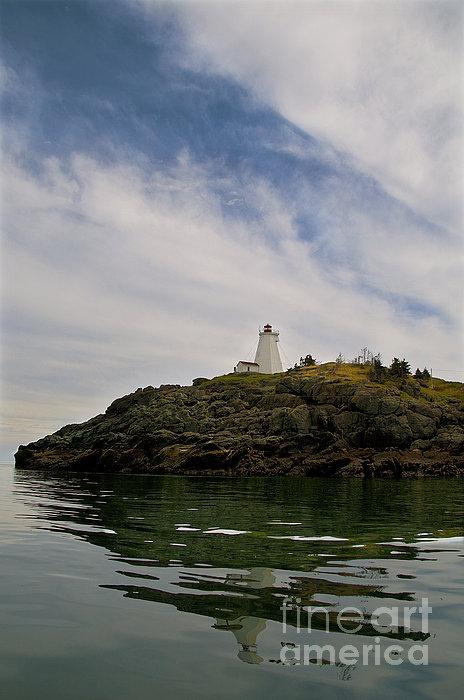 Swallowtail Lighthouse.. Print by Nina Stavlund