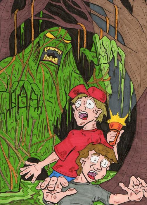 Swamp Monster Print by Anthony Snyder