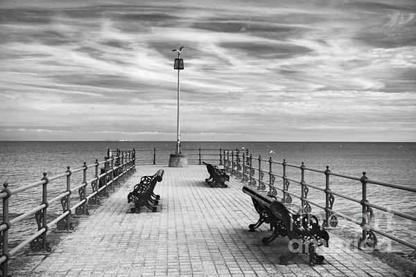 Swanage Pier Print by Richard Garvey-Williams
