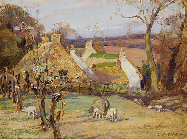 Swanston Farm Print by Robert Hope