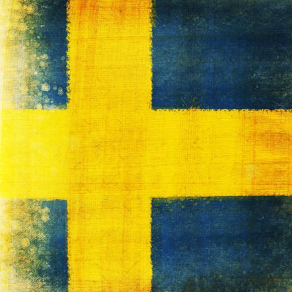 Swedish Flag Print by Setsiri Silapasuwanchai