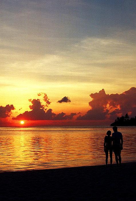 Sweet Golden Memory. Maldives Print by Jenny Rainbow