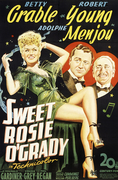Sweet Rosie Ogrady, Betty Grable Print by Everett