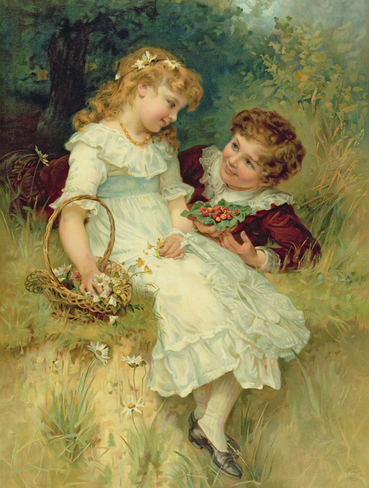 Sweethearts Print by Frederick Morgan