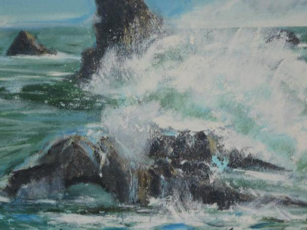 Swept Away At Goat Rock    Ca. Painting