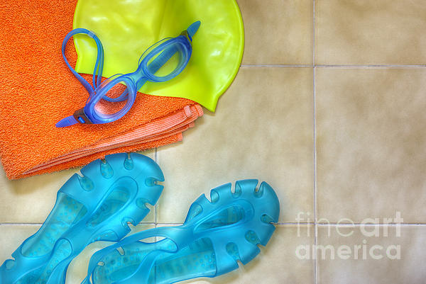 Swimming Gear Print by Carlos Caetano