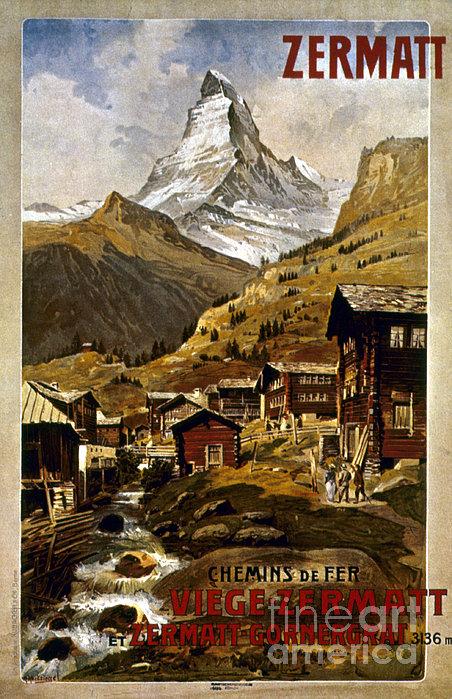 Swiss Travel Poster, 1898 Print by Granger