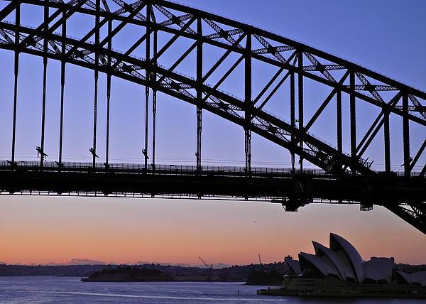 Kirsten Giving - Sydney Harbor Bridge and Opera House at Dawn