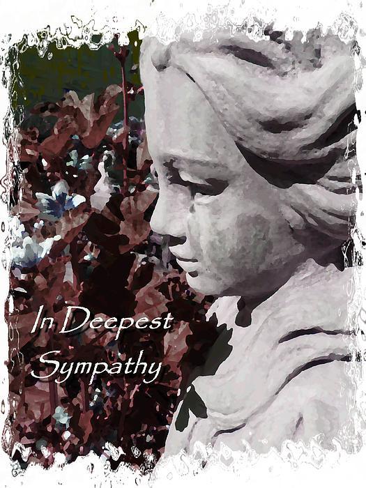 Sympathy Angel Card Print by Cindy Wright