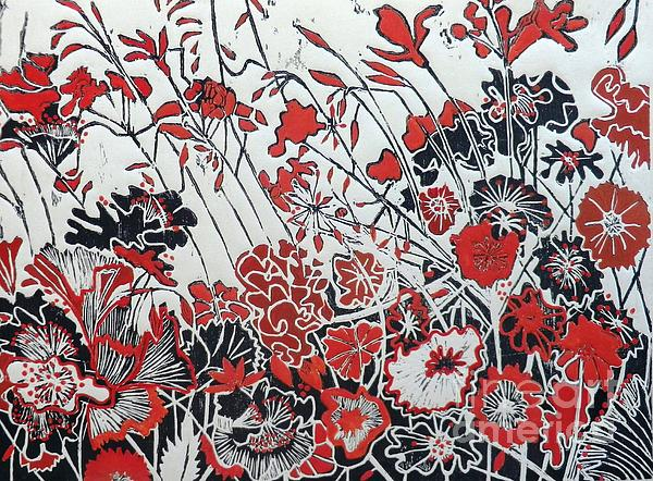 Symphony In Red Print by Belinda Nye