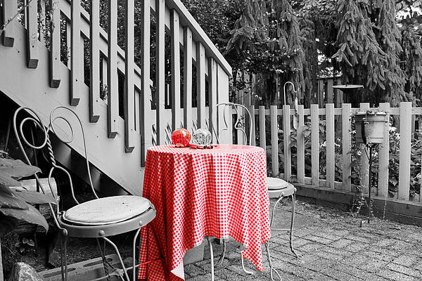 Table And Chairs Print by Frank Nicolato