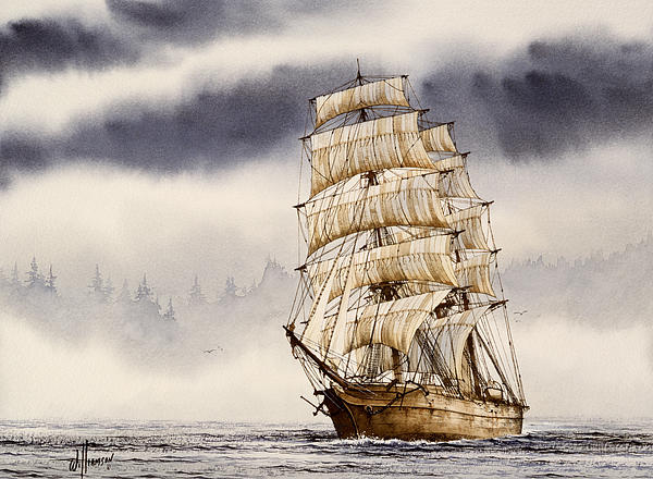 Tall Ship Adventure Print by James Williamson