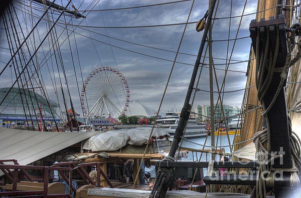 Tall Ships At Navy Pier Print by David Bearden