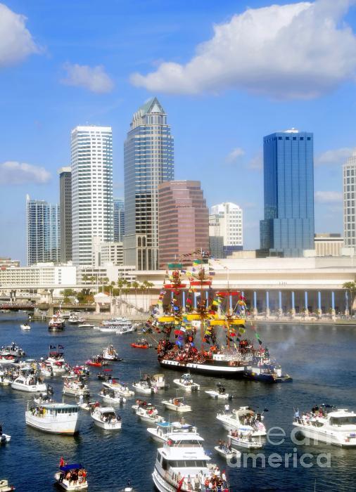 Tampa's Flag Ship Print by David Lee Thompson
