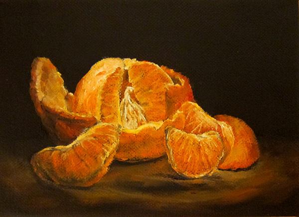 Tangerine Tango Print by Diane Kraudelt