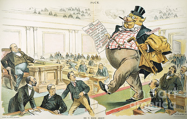 Tariff Lobbyist, 1897 Photograph  - Tariff Lobbyist, 1897 Fine Art Print