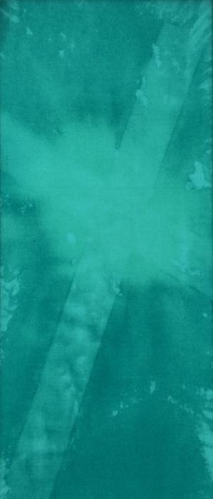 Teal Cross Print by Brandi Webster
