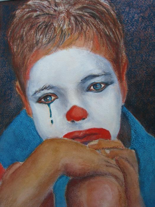 Sad Clown Paintings for Sale