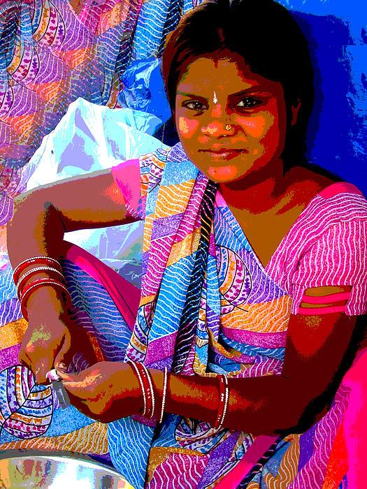 Teenage Girl Print by Vijay Sharon Govender
