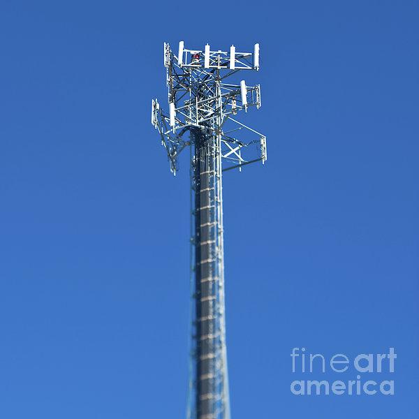 Telecommunications Tower Print by Eddy Joaquim