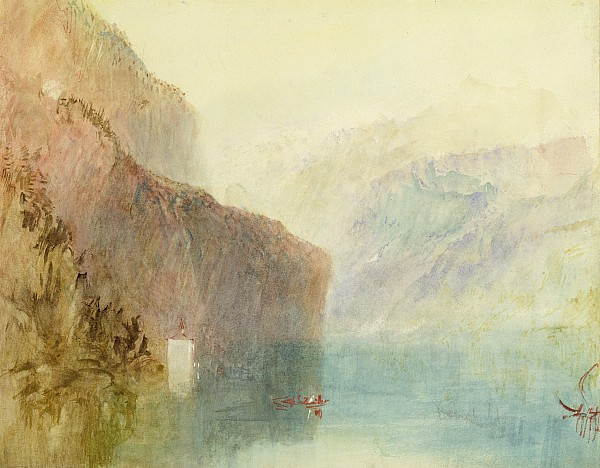 Tell's Chapel - Lake Lucerne Print by Joseph Mallord William Turner