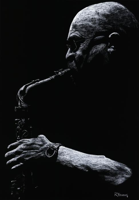 Temperate Sax Print by Richard Young