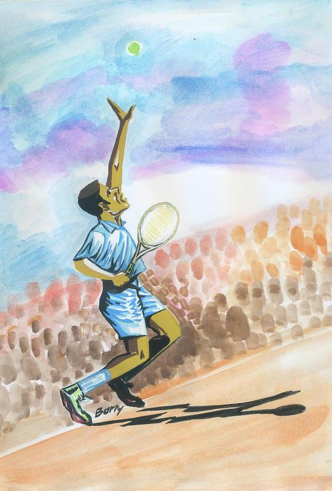 Tennis 02 Print by Emmanuel Baliyanga