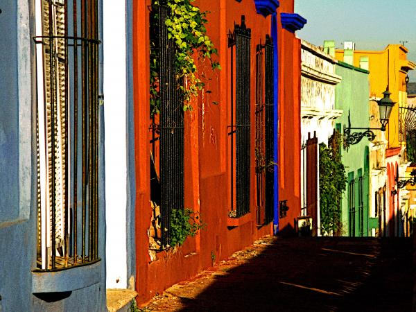 Terracotta House On The Hill Print by Olden Mexico
