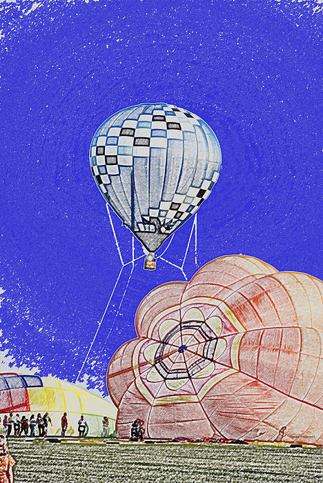 Tethered Hot Air Balloon Print by Thomas Woolworth