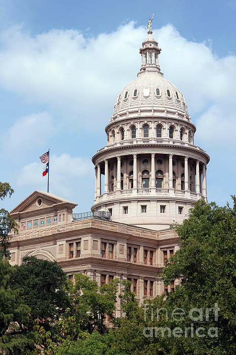 Texas Capitol Print by Jeannie Burleson