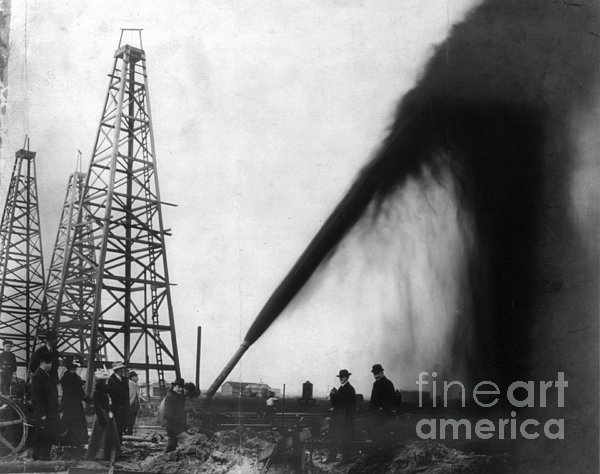 Texas: Oil Derrick, C1901 Print by Granger