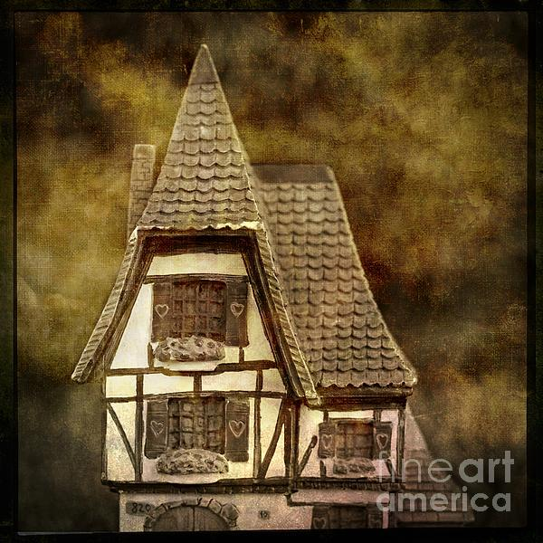 Textured House Print by Bernard Jaubert