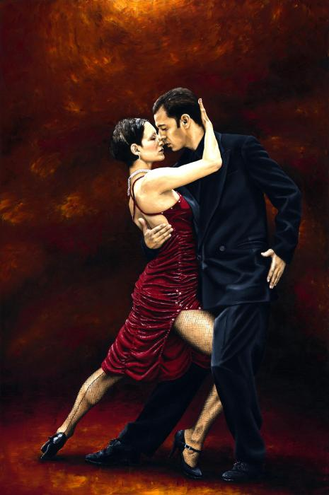 That Tango Moment Print by Richard Young
