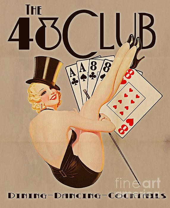 The 48 Club Print by Cinema Photography