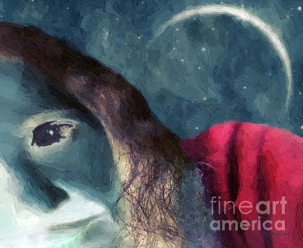 The Agony Of Saint Catherine Print by RC DeWinter
