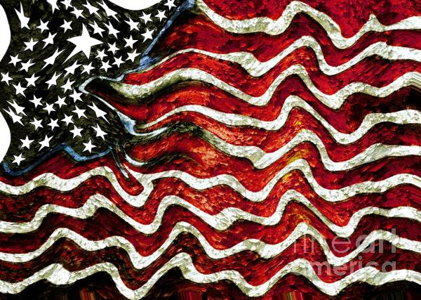The American Flag Mixed Media  Abstract American Flag Art