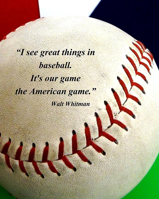 The American Game Print by Christopher Kerby