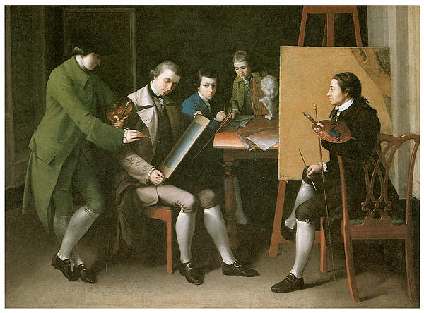 The American School Print by Matthew Pratt