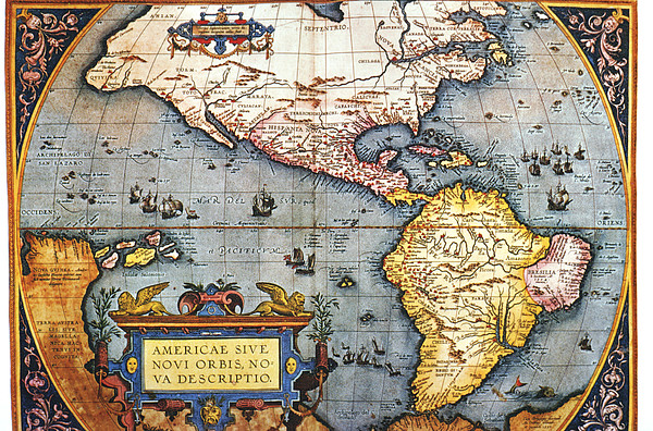 The Americas, 1587 Map By Abraham Ortelius Print by Fototeca Storica Nazionale
