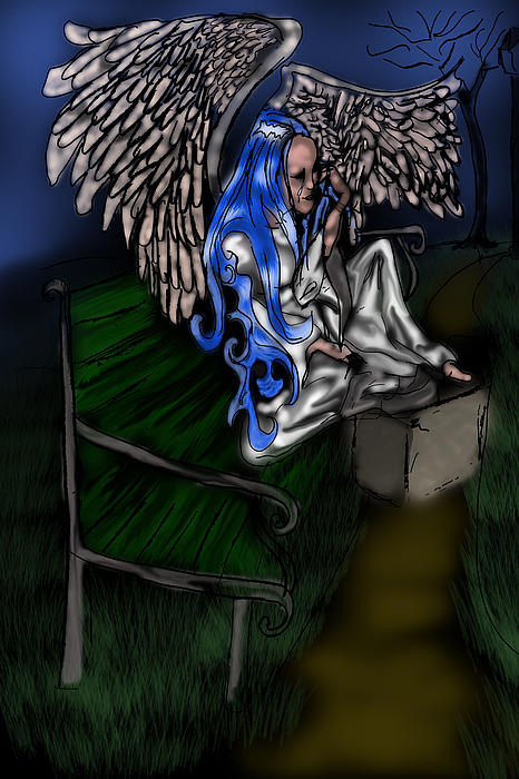Cindy Boyd - The Angel Dries Her Tears on A Park Bench