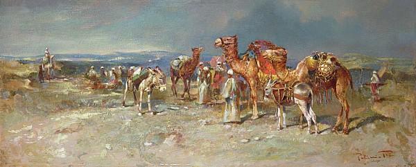 The Arab Caravan   Print by Italian School
