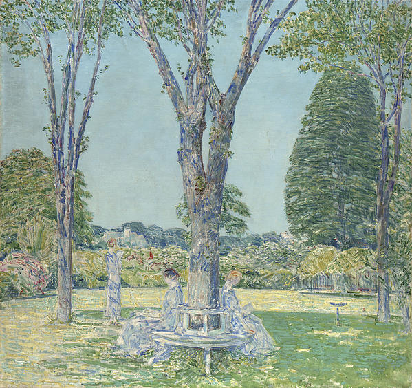 The Audition Print by Childe Hassam