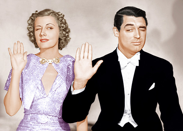 The Awful Truth, From Left Irene Dunne Print by Everett