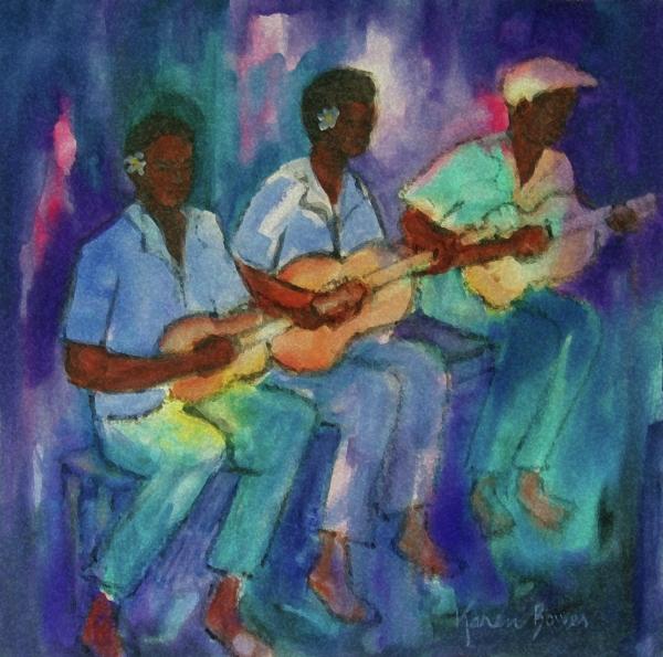 The Band Boys Print by Karen Bower