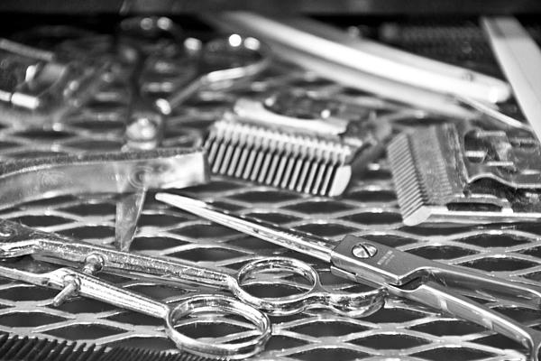 The Barber Shop 10 Bw Print by Angelina Vick