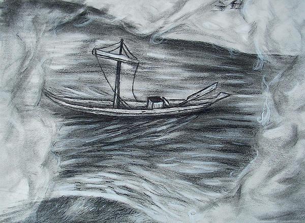 The Barge Print by C nick Tuigsinn