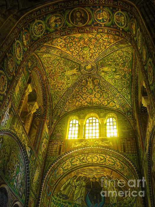 The Basilica Di San Vitale In Ravenna Print by Gregory Dyer