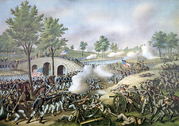 The Battle Of Antietam, September 17 Print by Everett